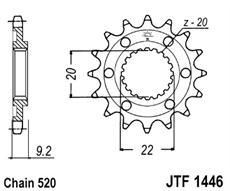 JT/JT kolečko JTF1446 KAWASAKI KXF 250