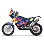/Model motocykla  KTM 450 Rally Dakar Rally #1 Cyril Despres 1:18